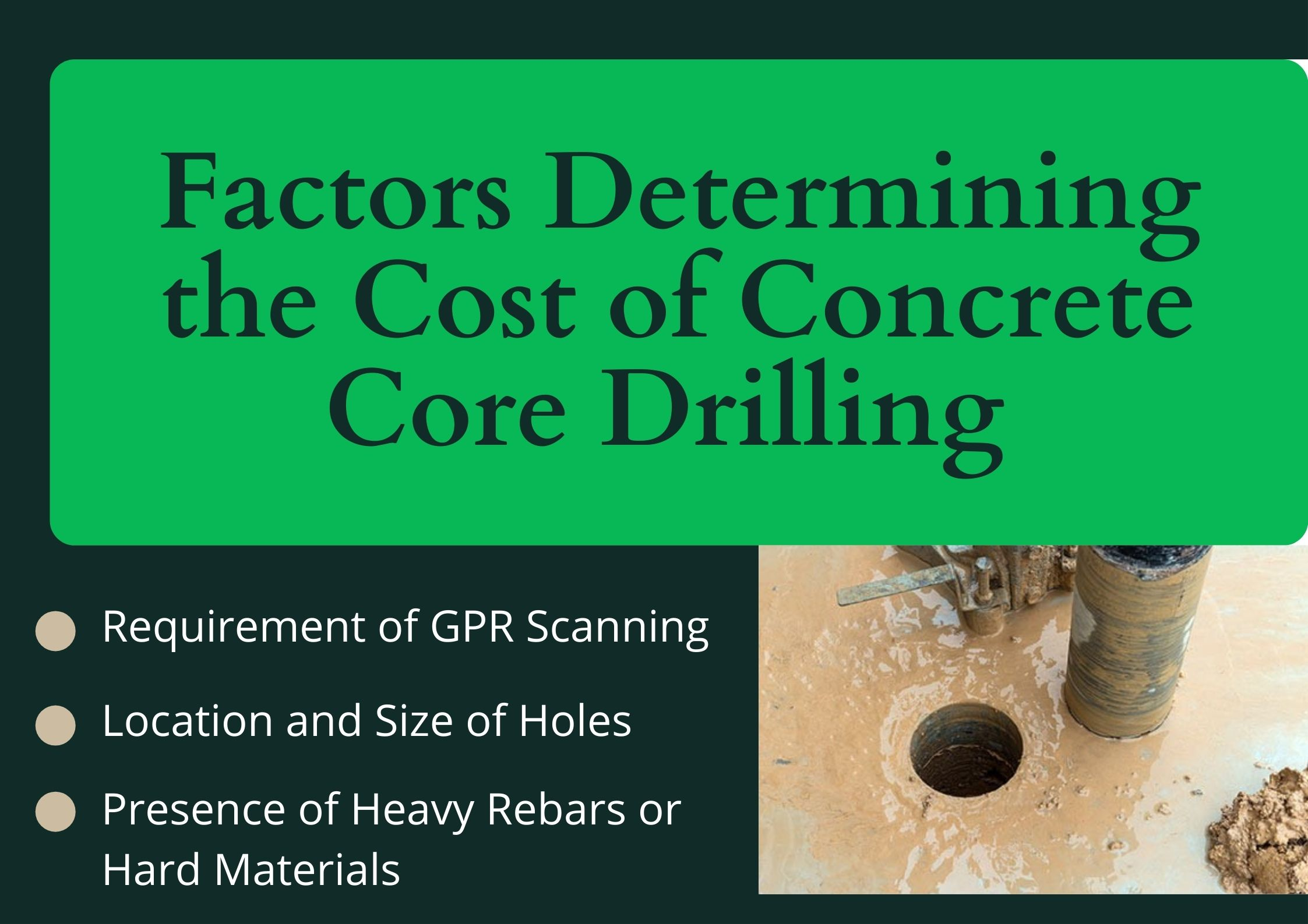 Inspect the Area before Drilling