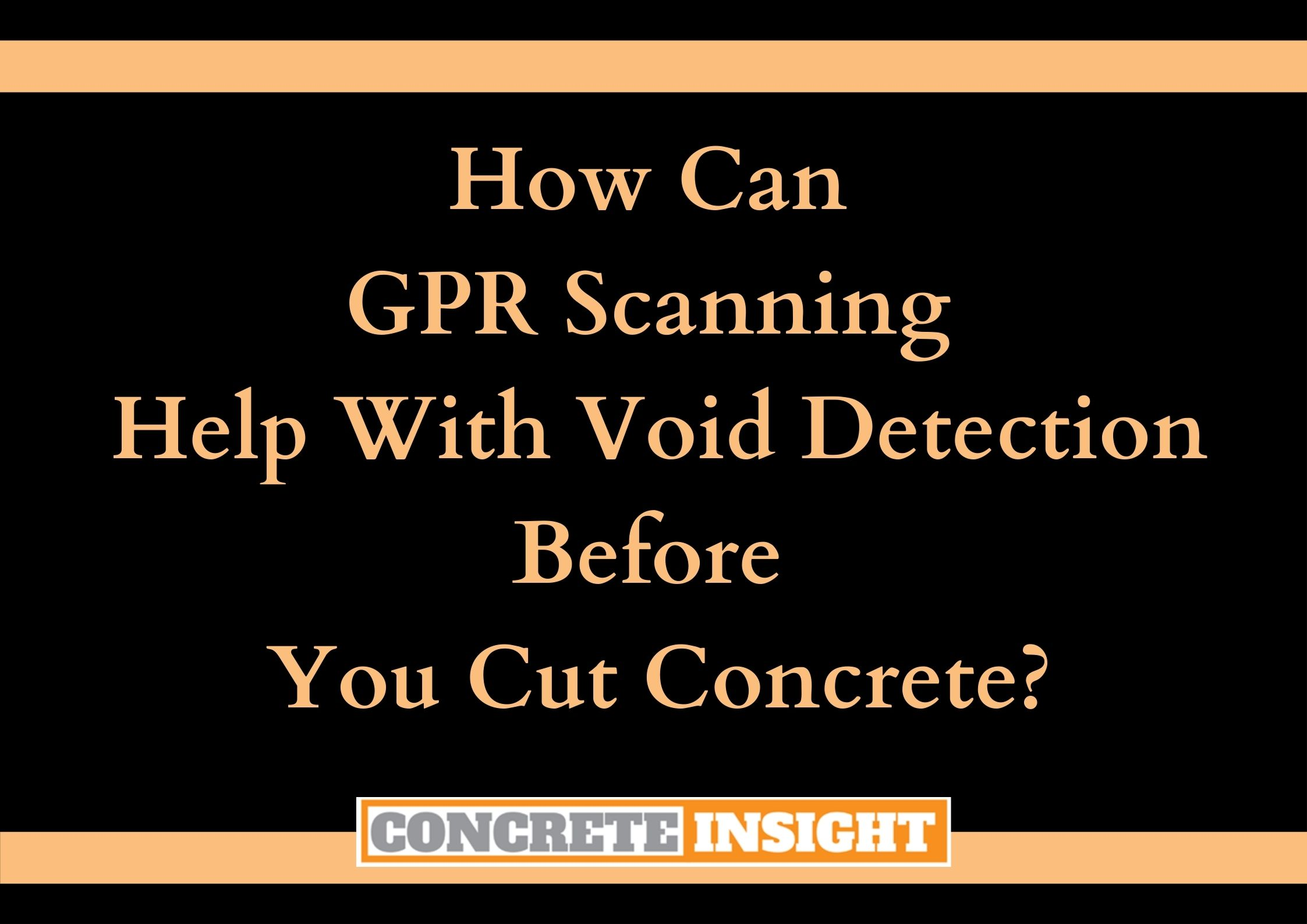 How GPR Scanning Can Help with Void Detection